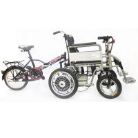 A 品质好货 轮椅电动双人电动轮椅 多功能折叠轻便老年人残疾人代步车可带人载人轮椅【七夕礼物】 图片色
