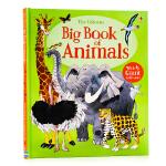 动物认知大图书 Usborne Big Book of Big Animals 英文原版绘本 动物图鉴 精装大开 儿童