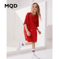MQD童装女童连衣裙春夏季新款洋气公主裙韩版长款宽松T恤连衣