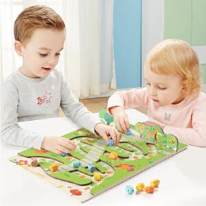 【当当自营】特宝儿 毛毛虫蛇棋飞行棋儿童骰子游戏棋小学生棋类益智玩具双面棋盘桌游玩具