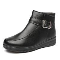 女棉鞋冬季妈妈鞋女靴加绒中老年保暖女鞋雪地靴皮鞋女
