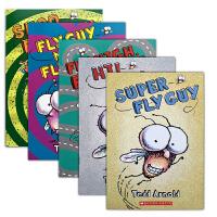 Fly Guy Reader Collection (5 Books)苍蝇小子5册套装 Tedd Arnold(泰德・阿诺德)经典英文原版图画读物 荣获2006年美美国图书馆协会奖 送音频