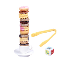 可爱仿真曲奇饼干叠叠高 叠叠乐叠塔甜甜圈 手眼协调训练玩具 曲奇饼干-779