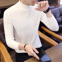 男士半高领毛衣男冬季韩版帅气潮流针织衫打底衫长袖修身加厚男装