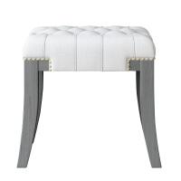 家具美式全实木梳妆凳轻奢卧室椅子换鞋凳现代简约化妆凳古筝