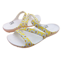 Crocs女单鞋 2021新款恺迪女士低帮夏季平底时尚休闲凉鞋 206894 恺迪女士图案凉鞋