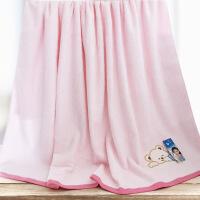 新品纯棉刺绣儿童毛巾被加厚卡通婴儿浴巾正方形包被110*110