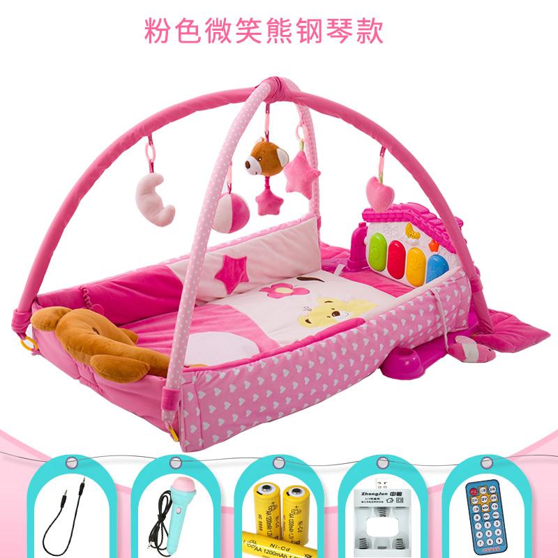 婴儿玩具音乐游戏毯垫脚踏钢琴健身架器0-1-3-6-12个月岁宝宝用品