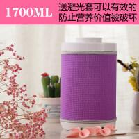 【新品热卖】玻璃瓶子密封罐带盖储物罐食品糖果盒零食糖罐咖啡豆储存罐子家用 送紫色避光套