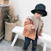 男童外套秋装新款 韩版1-3-5岁儿童加厚卫衣外套宝宝秋冬上衣