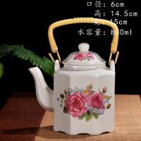 陶瓷冷水壶 大号茶壶凉水壶 2l大容量家用花茶耐热红茶泡单壶咖啡壶