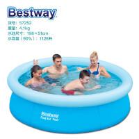 【当当自营】Bestway大型儿童游泳池家庭戏水池加厚户外浴池【坚韧三层夹网材质】(198x51CM) 57252