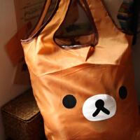 日单Rilakkuma轻松熊 萌可爱可折叠大容量环保袋 手拎袋 购物袋