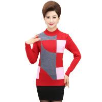 中年毛衣女装秋冬打底针织衫宽松套头长袖40-60岁妈妈装人衫