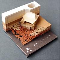 网红日本清水寺立体便利贴3d模型创意便签纸女神生日礼物抖音同款