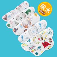 宝宝儿童吃饭口水围兜360度旋转女孩婴儿口水巾纱布围嘴