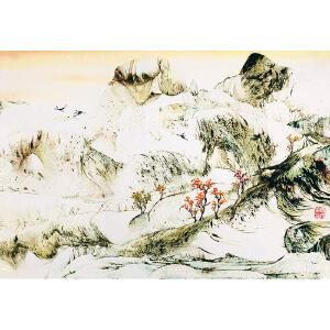 中国艺联副主席,中国翼书画协会主席 秦兴田(山水9)ZH147