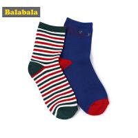 【4折到手价:19.6】巴拉巴拉儿童宝宝袜子秋冬新品男童长袜保暖袜男孩两双装时尚韩版