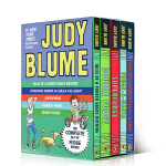 Judy Blume's Fudge Box Set 朱迪-布鲁姆小说集5本盒装 Double Fudge Fudge