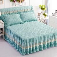 蕾丝床裙夹棉加厚床罩席梦思床垫保护套床盖韩版公主1.5m1.8米床