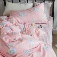 床单三件套学生宿舍单人0.9m 纯棉寝室被套儿童1.2米床上用品女生定制