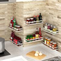 不锈钢免打孔厨房置物架调料架壁挂式调味料品调料瓶调料盒收纳架