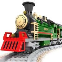 儿童兼容乐高积木拼装火车玩具轨道城市系列儿童拼插男孩6-8-10周岁 25904火车积木666pcs