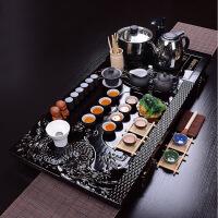 尚帝整套茶具紫砂功夫茶具四合一电热磁炉实木茶盘套装BH2016-XM145