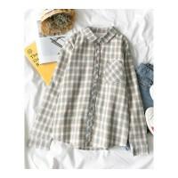 秋冬装新款女装韩版加绒加厚polo领开衫上衣长袖衬衫