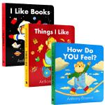 安东尼布朗 小猩猩系列3册 I Like Books how do you feel things i like 英文