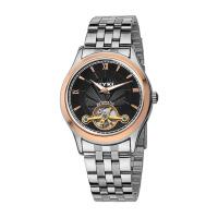 艾奇(EYKI)全自动镂空机械表 钢带男表商务男士手表