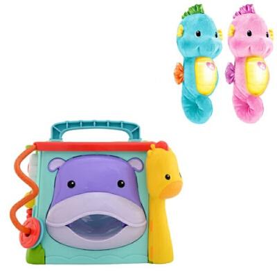 费雪(Fisher Price) 探索学习六面盒音乐形状配对认知双语早教儿童玩具积木屋 +海马