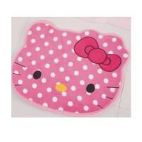 日照鑫 hello kitty 猫头卡通珊瑚绒防滑地垫 脚垫床边垫 门垫(一个装)