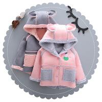 女童棉衣外套2018冬季新款羊羔毛男童棉袄加厚儿童佩奇宝宝冬装潮
