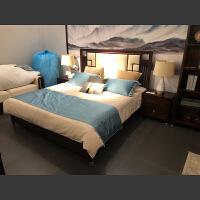 【优选】新中式实木床现代古典婚床1.8米主卧双人床1.5米轻奢禅意家具定制 1800mm*1900mm 框架结构