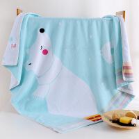 新品婴儿浴巾纯棉新生儿童加厚洗澡大毛巾被宝宝超柔吸水方形全棉盖毯