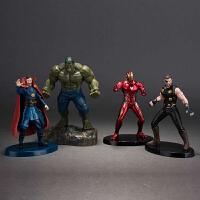 复仇者联盟3无限战争绿巨人奇异博士钢铁侠雷神模型手办公仔摆件 +灯