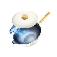 九阳不粘锅炒锅 家用炒菜锅平底锅电磁炉煤燃气灶通用轻奢派炒锅CLT2955D