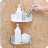 卫生间免打孔三角置物架厨房塑料转角浴室洗漱收纳架