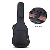 吉他包41寸双肩加厚民谣木吉他包36寸38寸39寸40寸吉他背包吉他袋 42寸加厚升级款 黑色