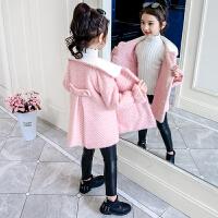 小女孩洋气秋冬装女童毛呢大衣2019秋季新款韩版儿童加厚呢子外套