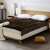 冬季加厚保暖床护垫床褥垫被1.8m床定制 棕色