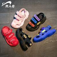 2019夏季新款韩版男童凉鞋包头软底鞋中大童女童童鞋小童宝宝儿童鞋子