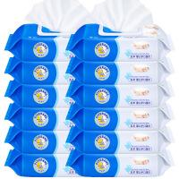 【当当自营】五羊 婴儿手口湿巾80片×3包*4 儿童宝宝湿纸巾带盖