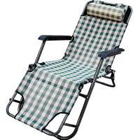 捷�N 户外座躺椅便携躺椅折叠午休床折叠椅午睡椅办公室简易床行军床椅子沙滩椅 格格