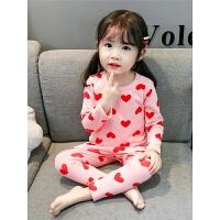 女童宝宝长袖家居服内衣两件套儿童长袖睡衣套装