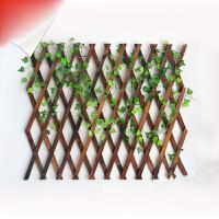 户外防腐木栅栏伸缩实木篱笆爬藤架花园围栏护栏墙面装饰网格花架抖音