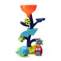 宝宝洗澡玩具齿轮摇摆水车儿童浴室戏水玩水沙滩沙漏转转乐玩具