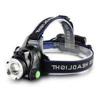 LED头灯强光可充电感应变焦头戴式电筒轻小号亮防水夜钓鱼户外