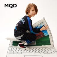 MQD童装男童套装2019新款春装韩版洋气大童卫衣 儿童运动两件套潮